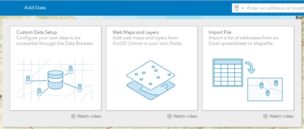 Esri Business Analyst Web App'e Veri Ekleme Yöntemleri