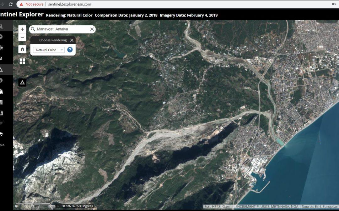 Sentinel 2 Uydu Görüntüleriyle Esri Sentinel-2 Explorer Web Uygulaması Aracılığıyla Çalışmak