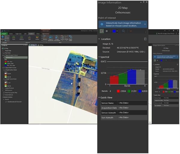 Image Information aracıyla piksel değerlerini gerçek zamanlı olarak görselleştirin.
