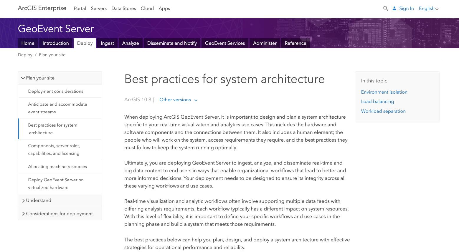 ArcGIS GeoEvent Server 10.8.1'de yeni ve yeniden yapılandırılmış belgeler